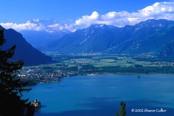 Lake Geneva with Chateau de Chillon