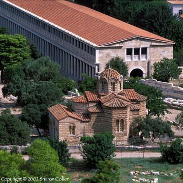 Stoa of Attalos with Apostoli Church