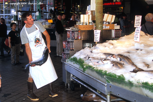 Fishmonger at Pike Place Market