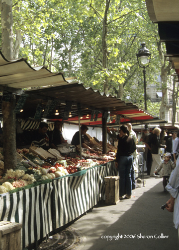 Paris Food Market in Early Spring