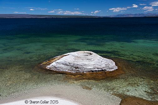 Fishing Cone Geyser at Yellowstone Lake