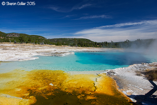 Sapphire Pool at Bisquit Basin - Yellowstone