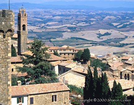 Montalcino and the Crete